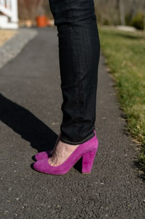 spring shoe trend the block heel champagne thursday boston style fashion blogger