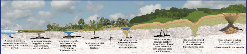 Sinkhole formationSource: Florida Dept. of State Geology Dept.