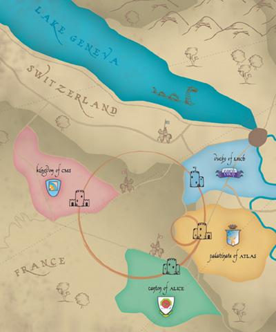 CERN map  Source: Symmetry Magazine via Duke Physics