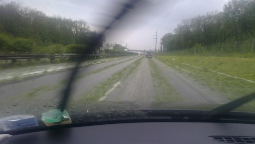 Like driving on a frozen lawn in a wind tunnel. Photo: PK Read