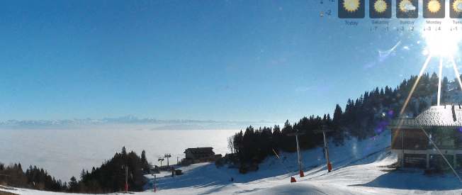 Sea of fog, Geneva basin Image via Monts Jura live web cam (Crozet)
