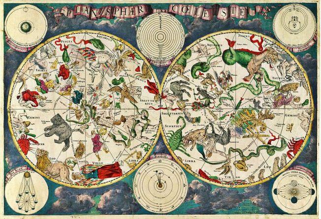 17th century celestial map by Dutch cartographer Frederik de Wit