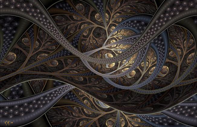 Seeds (pure fractal flame) Artist: Cory Ench via Fractal World Gallery