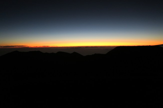 Pre-dawn on the summit of Haleakala, Maui.  All photos: PK Read