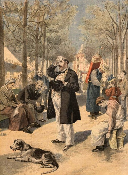 Suffering through a 19th century canicule in France. Source: France Pittoresque