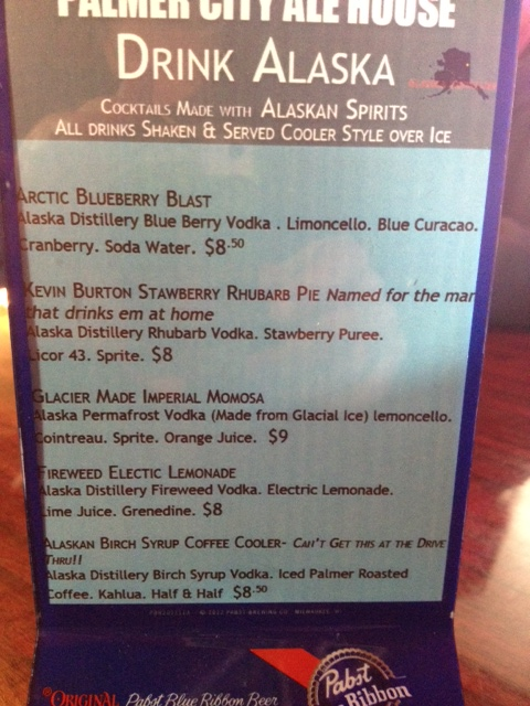 The menu and the mixes at the Palmer City Ale House.