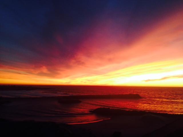 First evening sunset. All photos: PKR