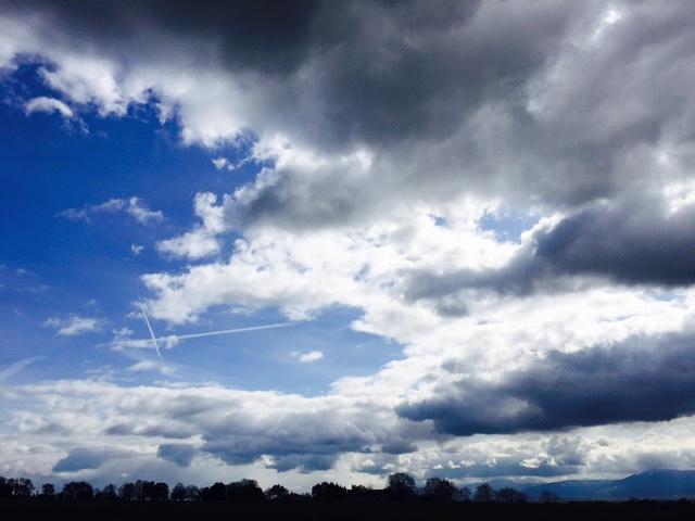 Winter skies move across an April landscape. Photo: PKR