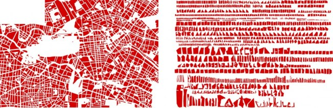 'Berlin rangé,' a tidied-up map of Berlin. Source: Armelle Caron