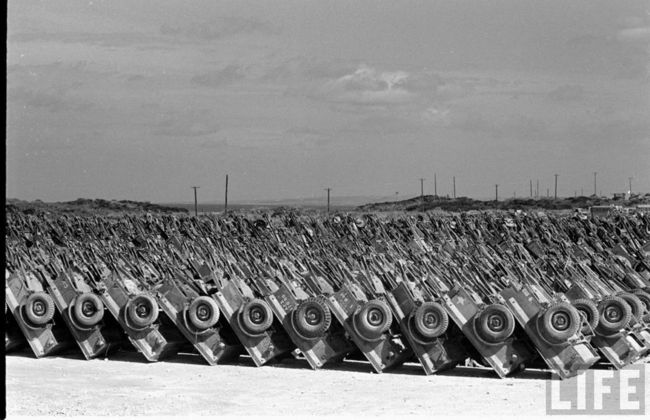 Vehicle graveyard, post WWII. Source: LIFE/G503