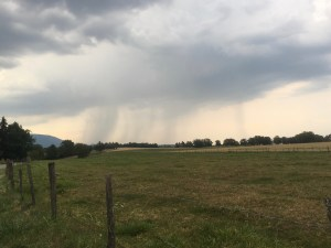 #harvest #summer #rain #countryside #running #France