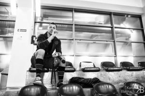 Trening sportowy w biznesie Na zdjęciu trener Tomasz Brzózka