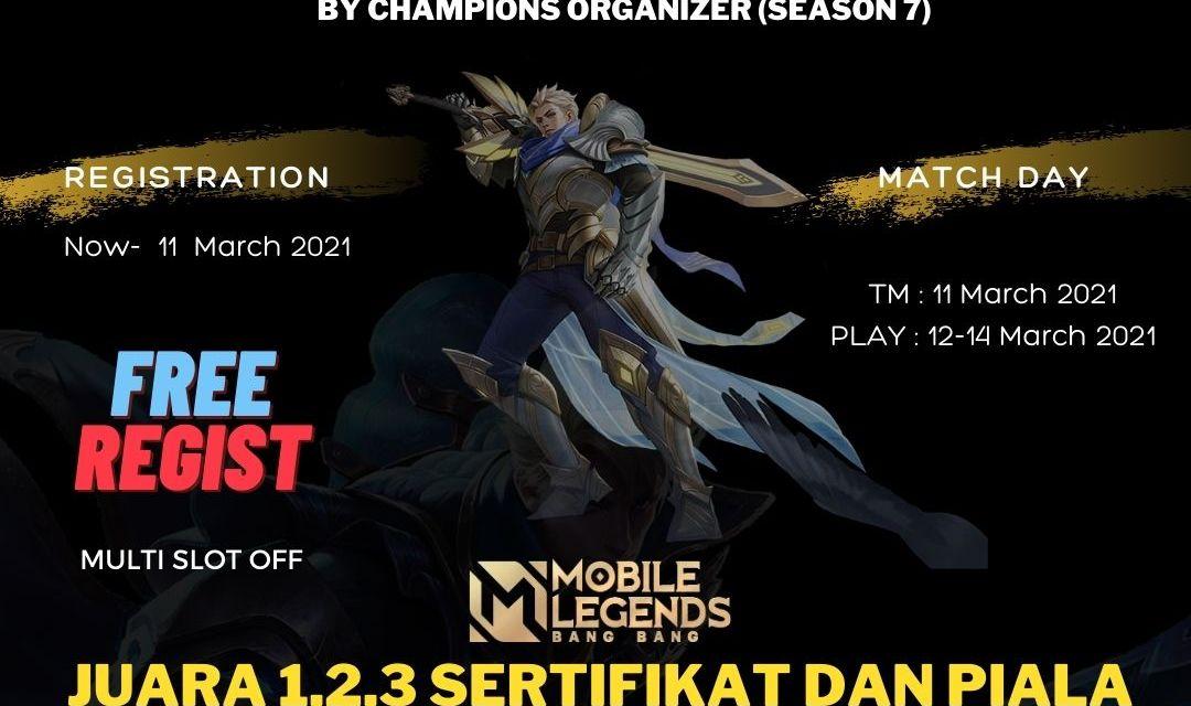 Turnamen Mobile Legends Online Gratis 2021 By Champions Organizer
