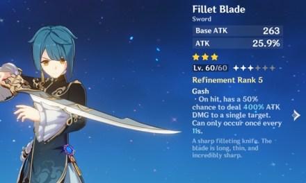 Fillet Blade Genshin Impact, Ketahui Tentang Pedang Satu Ini
