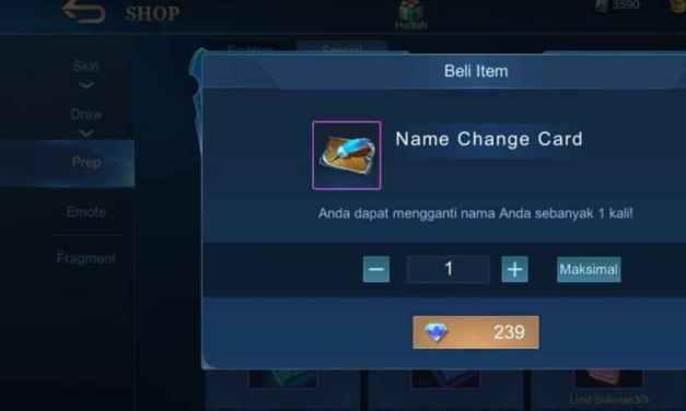 Cara Ganti Nama di Mobile Legends Tanpa Diamond – Champions.my.id
