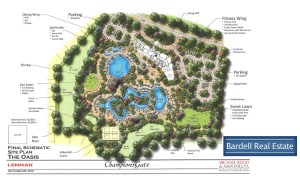 The Site Plan for the Oasis Club at Champions Gate, Orlando Florida