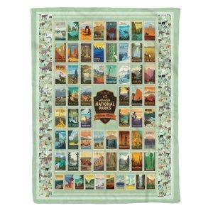 62 National Parks Blanket Gift For National Park Adventurer