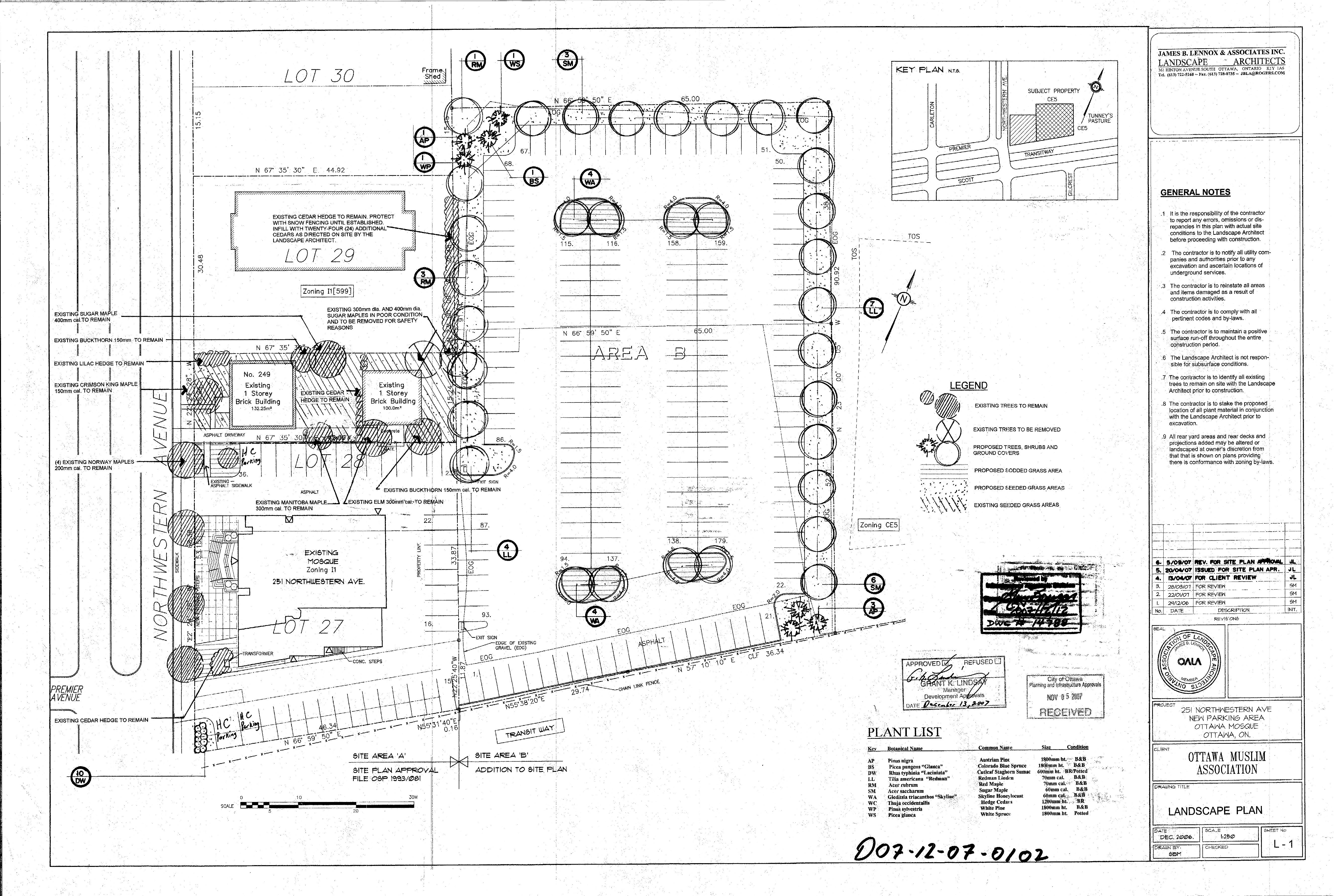 Ottawa Mosque Site And Landscape Plans
