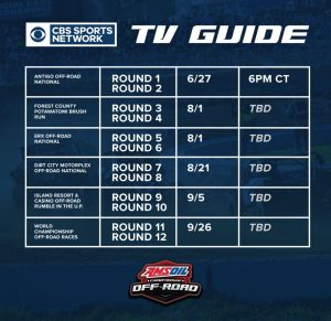 AMSOIL Championship Off-Road 2021 TV schedule.