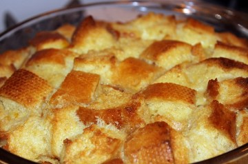 Bread Pudding With Bourbon Sauce (Microwave Recipe)