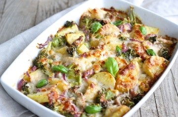 Three Cheese Broccoli and Penne Bake