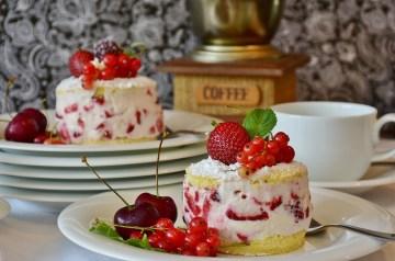 Banana Coffee Cake With Strawberry Glaze