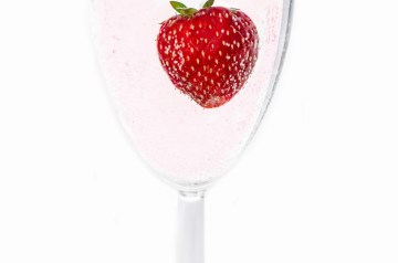 Champagne Infused Strawberry Soup
