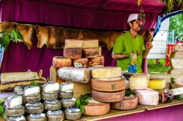 One Man Goat Cheese Veggie Scramble