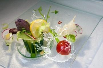 Zucchini and Cucumber Salad