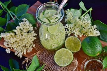 Strawberries in Lemon-lavender Syrup
