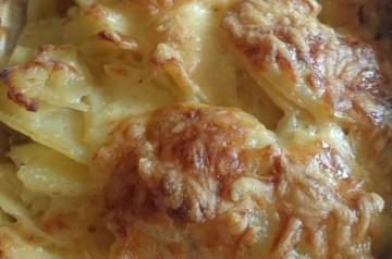 Lemony Artichoke and Onion Gratin