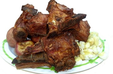 Aji De Carne [  Bolivian Pork and Bananas]