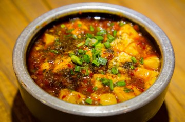 Black Bean Tofu and Noodles