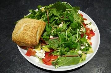 Avocado and Feta Cheese Salad Wraps