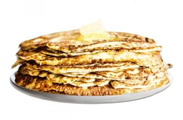 Double Fruit Whole Wheat Pancakes