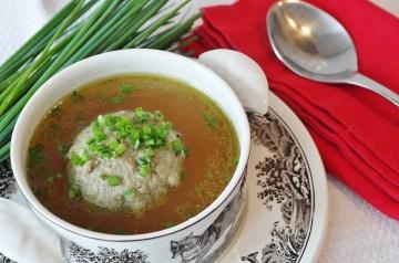 Bulgarian Tomato Dumpling Soup