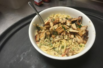 Pasta With Grilled Eggplant and Onions