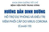 Hướng dẫn dinh dưỡng hỗ trợ dự phòng và điều trị COVID-19