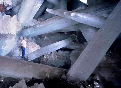 on peut voir ici l'immensité des cristaux...