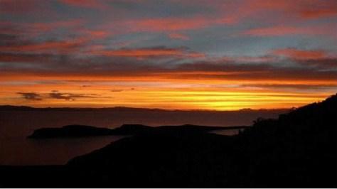 La fin du jour à la pointe nord de Celestia