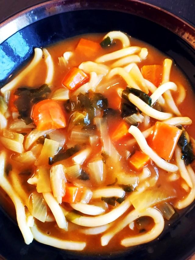 udon curry japonais wakame