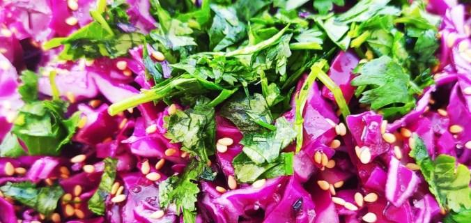 salade de chou rouge asiatique - Edited