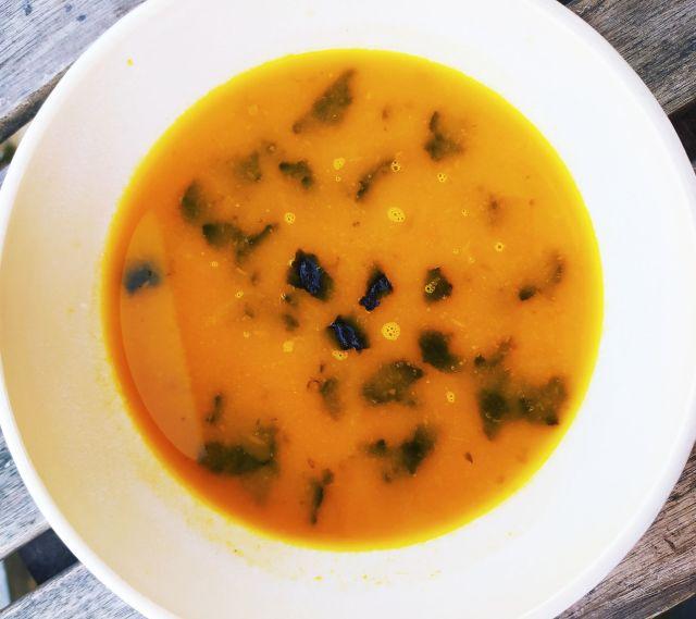soupe carottes gingembre nori