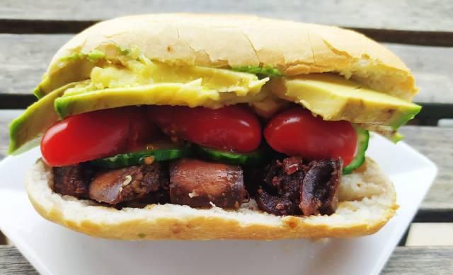sandwich aubergine chinoise caramélisée