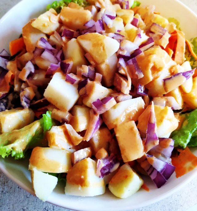 salade thai tiède pommes de terre cacahuètes