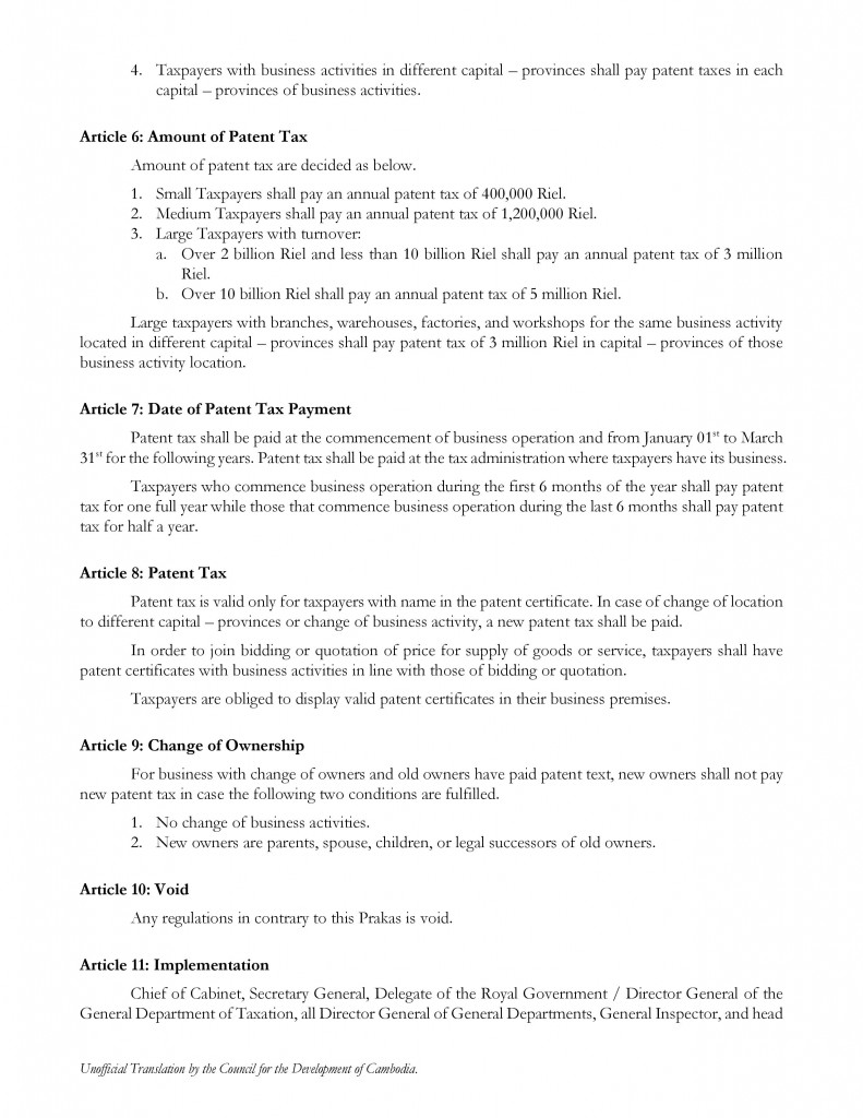 Prakas-1821-on-Procedure-for-Management-of-Patent-Tax-Collection_2015-12-25_English-Translation-page-002-791x1024