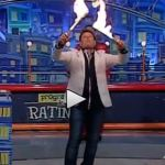 【衝撃映像】TVショーで火吹き芸が失敗!!あわやの大惨事