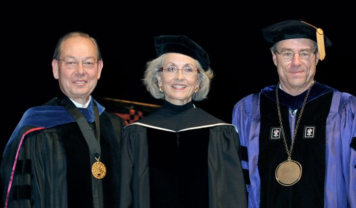 Chancellor Cheek, Andrea Loughry, and Jan Simek
