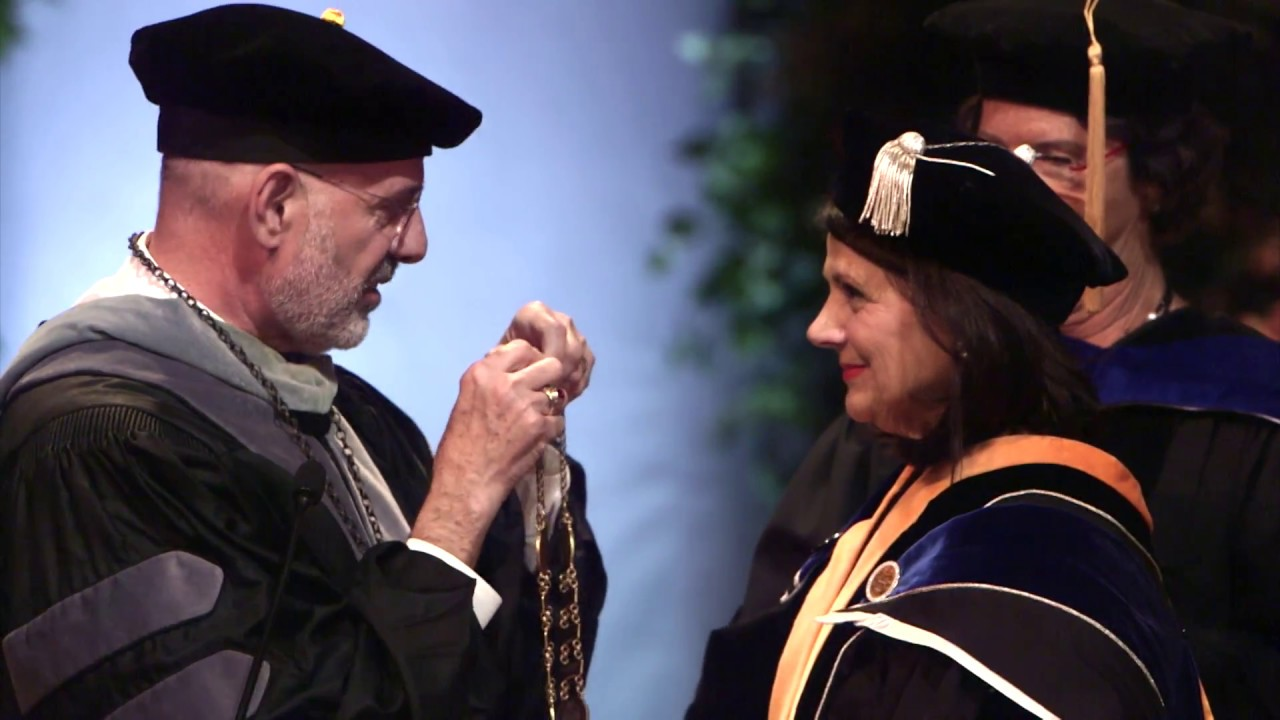 Chancellor Davenport shared a message of hope and kindness at her investiture