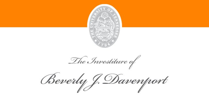 The investiture of Beverly J. Davenport